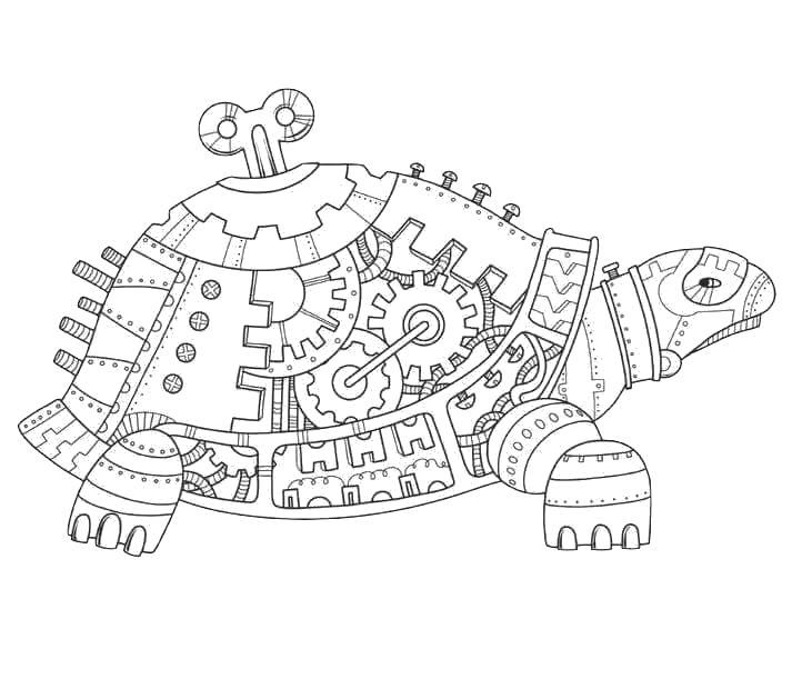 Coloriage Mandala De Tortue.Turtle Mania